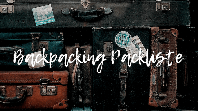 Backpacking Packliste