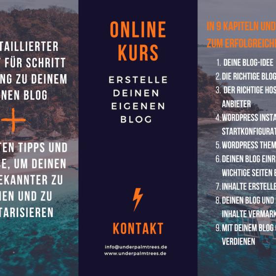 Online Kurs Blogerstellung Wordpress